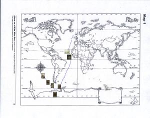 map of mariners voyage